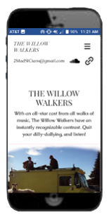 Willow walkers wix page responsive site preview - mobile size